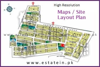 Maps / Sitplan of Super Highway Karachi