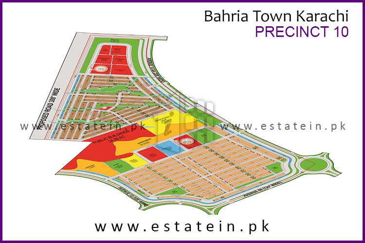 Site Plan of Precinct-10 of Bahria Town Karachi