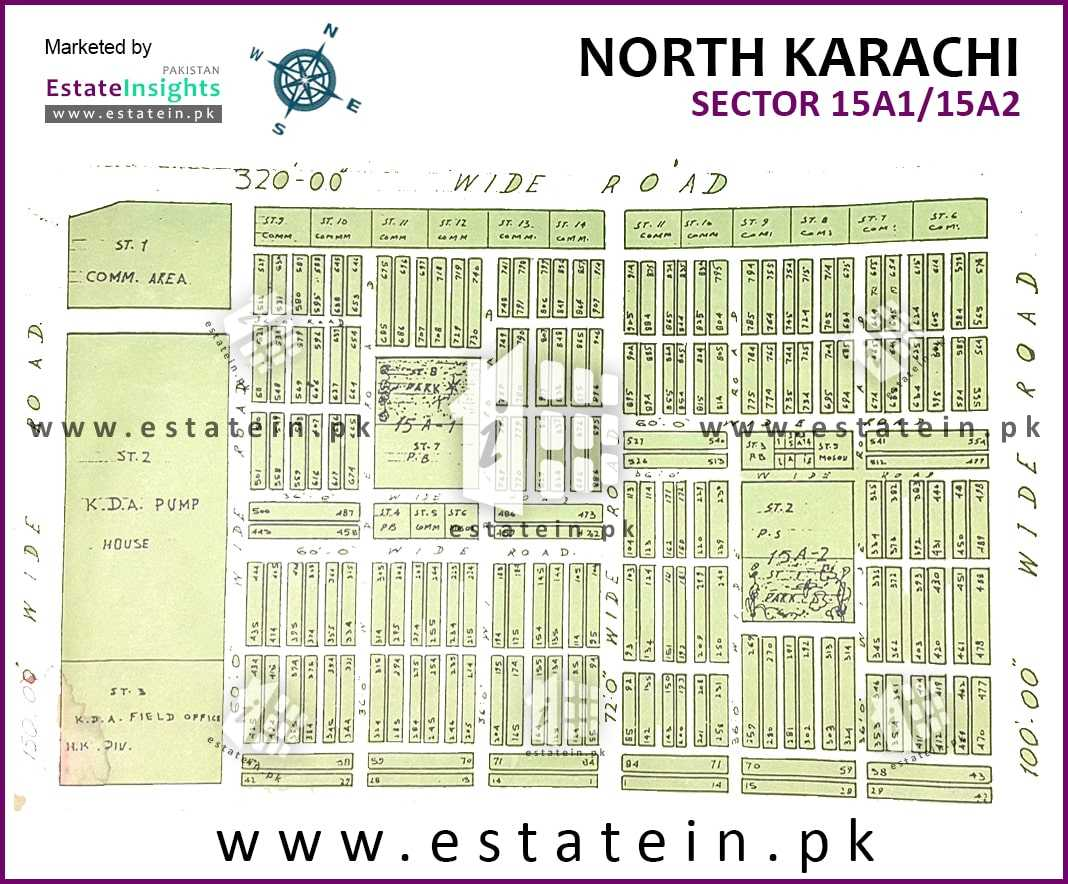 Site Plan of Sector 15-A/1 of Buffer Zone