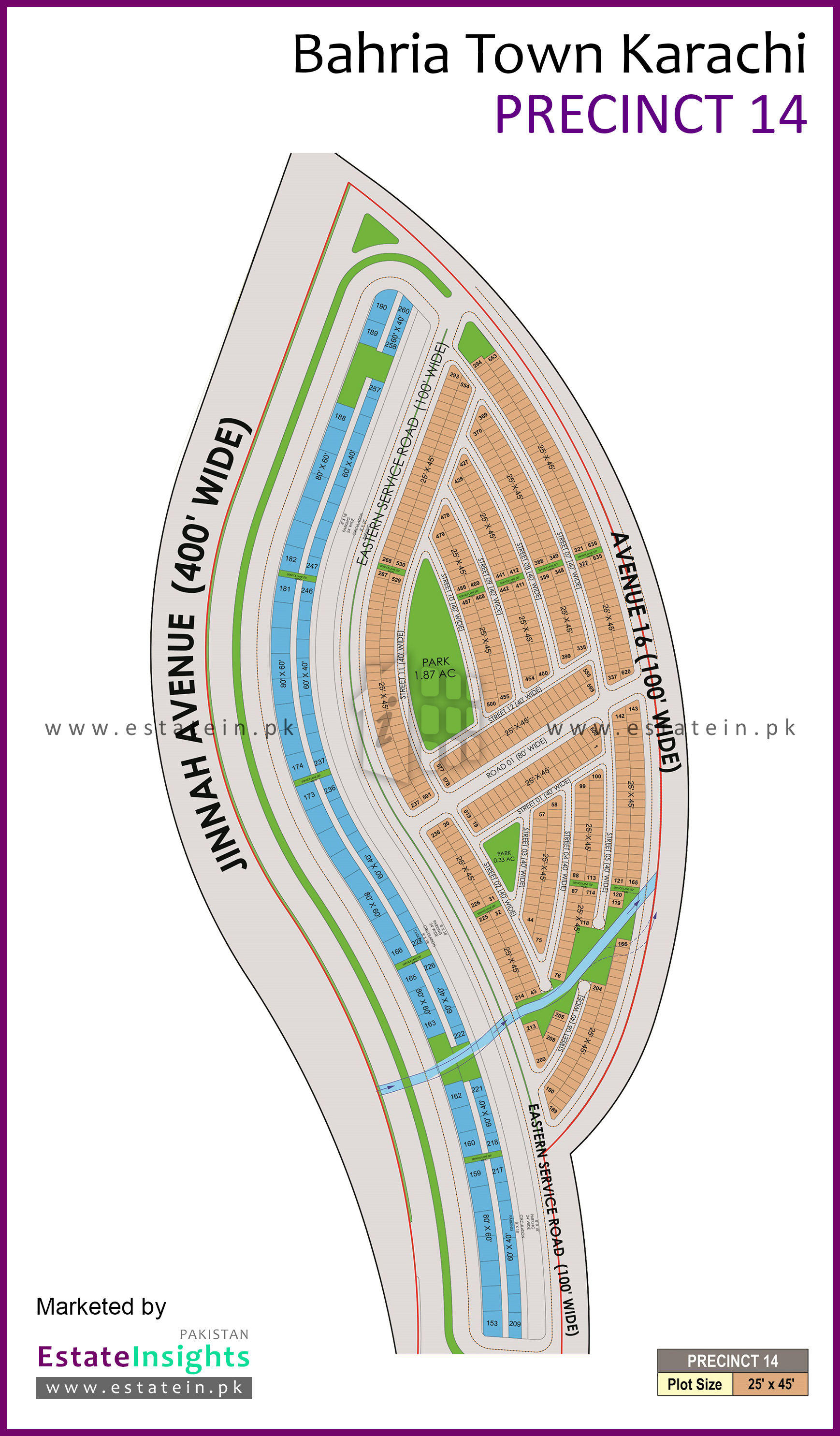 View High Resolution Project / Society Maps / Siteplan of Bahria