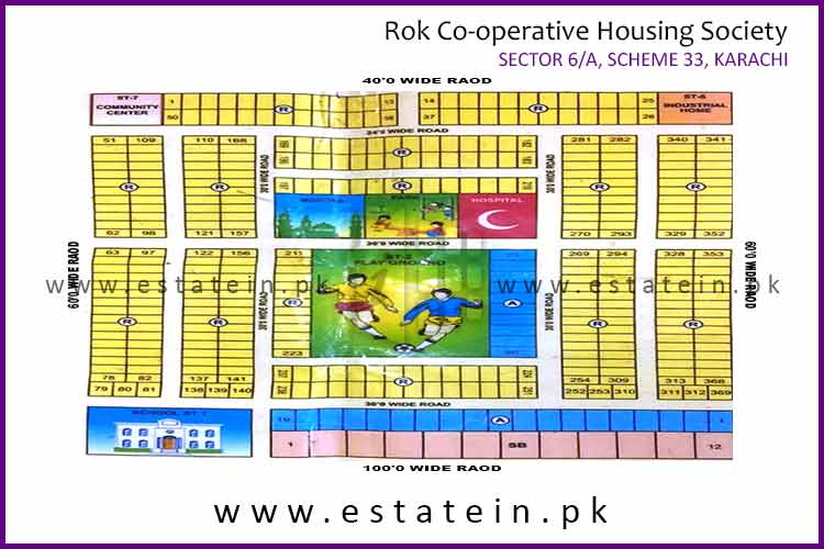 Site Plan of Rok Cooperative Housing Society  Sector 6A of Rok Cooperative Housing Society
