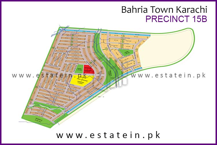 Site Plan of Precinct-15B of Bahria Town Karachi