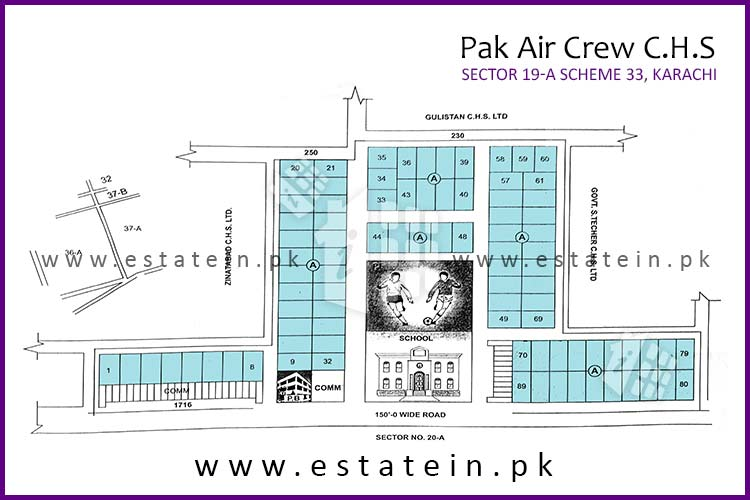 Site Plan of Pak Air Crew CHS of Pakistan Air Crew CHS