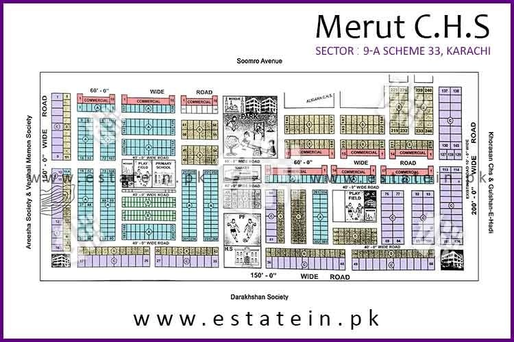 Site Plan of Meerut CHS of Meerut Cooperative Housing Society