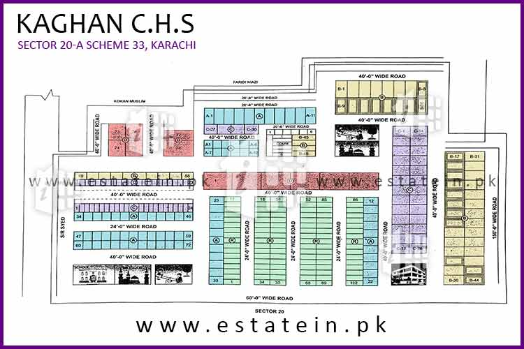 Site Plan of Kaghan CHS of Kaghan Cooperative Housing Society