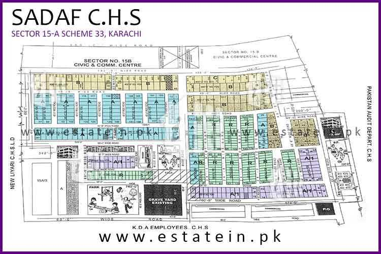 Site Plan of Sadaf CHS 15/A of Sadaf Cooperative Housing Society