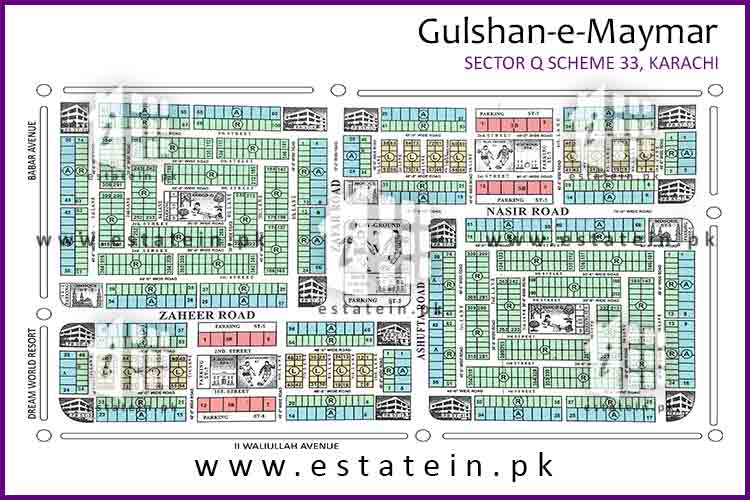Site Plan of Block Q1 of Sector Q