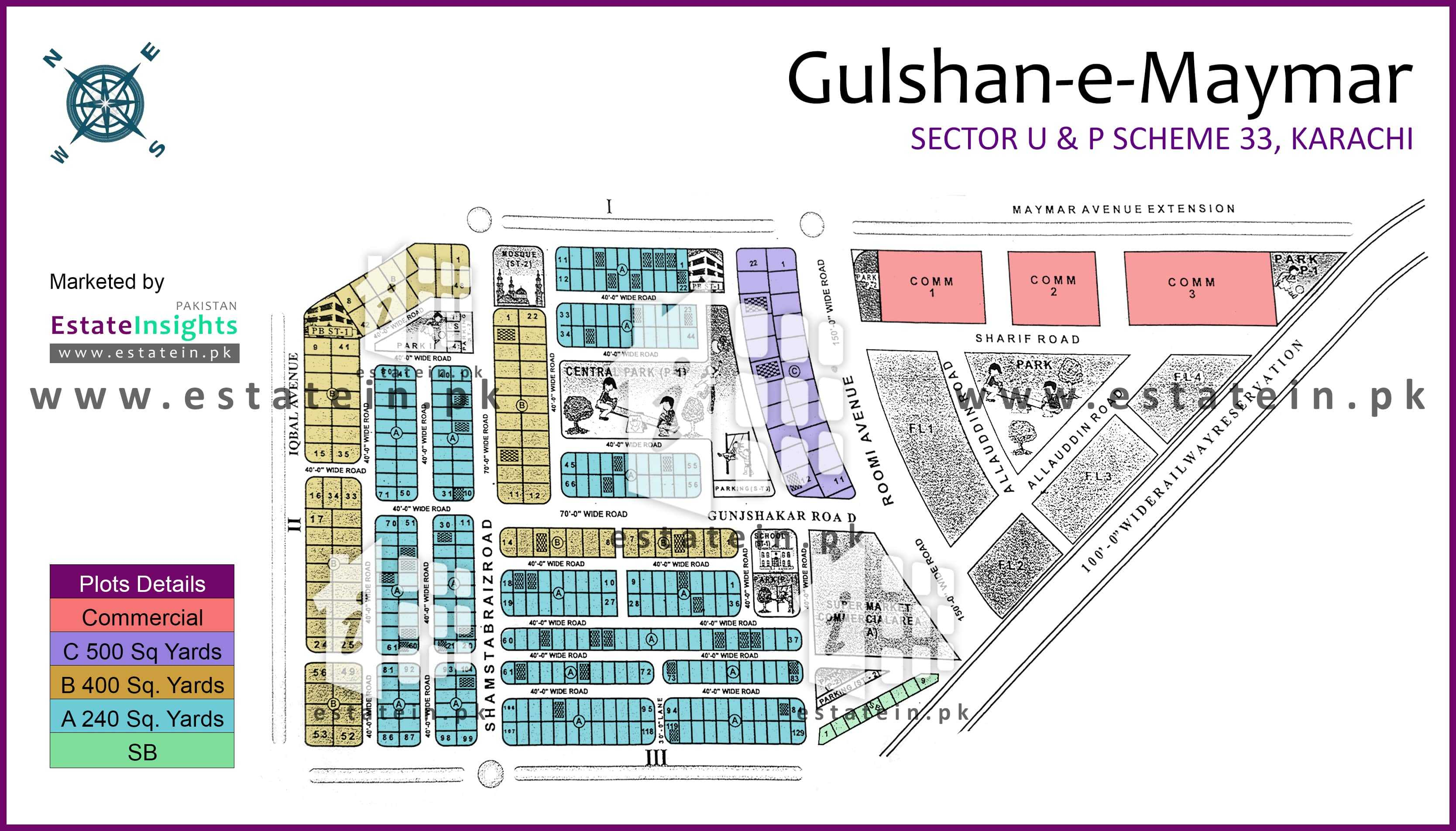 Site Plan of Block U3 of Sector U