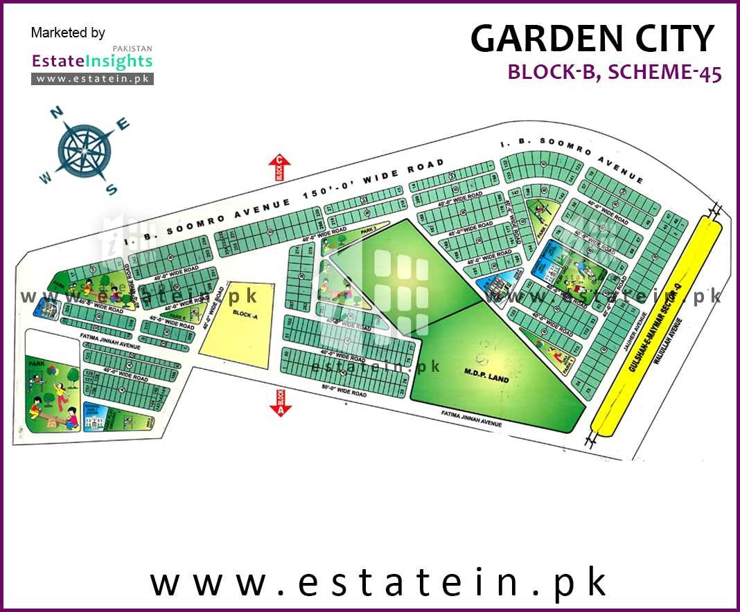 Site Plan of Block B of Garden City