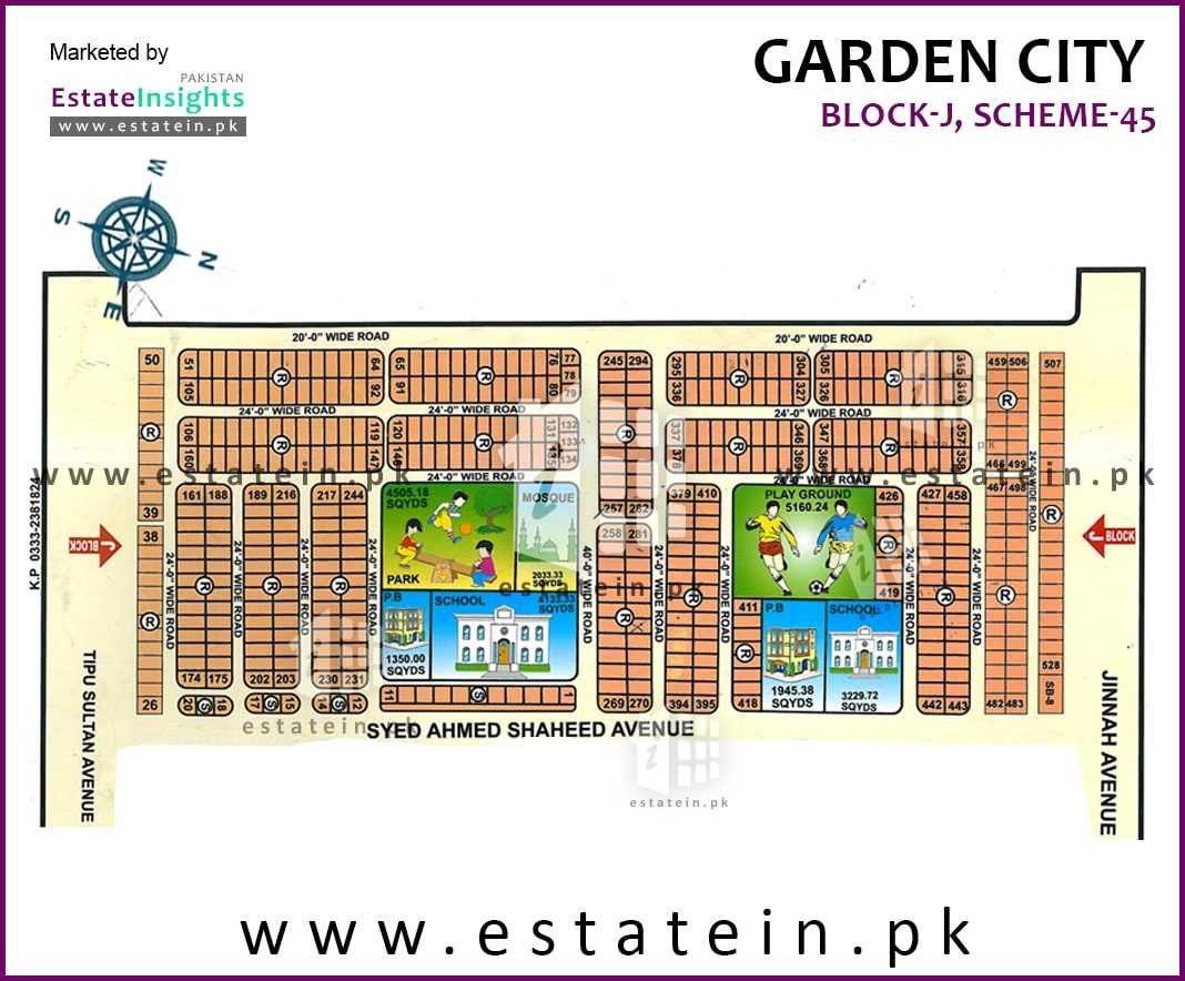 Site Plan of Block J of Garden City