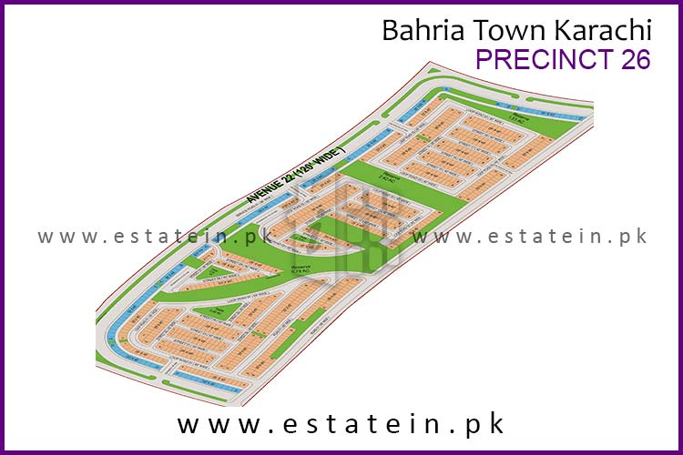Site Plan of Precinct-26 of Bahria Town Karachi