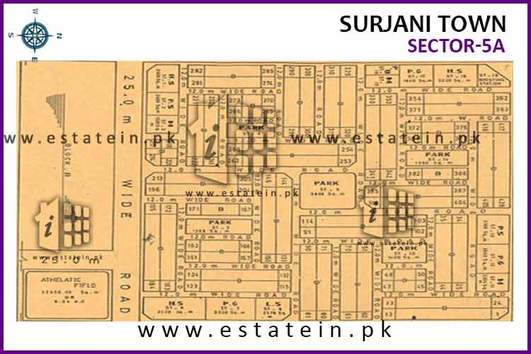Site Plan of sector-5 (A) of Surjani Town