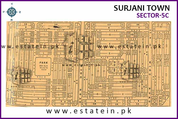 Site Plan of Sector-5 (C) of Surjani Town