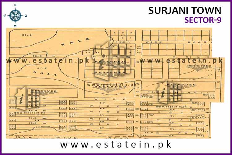 Site Plan of Sector-9 of Surjani Town