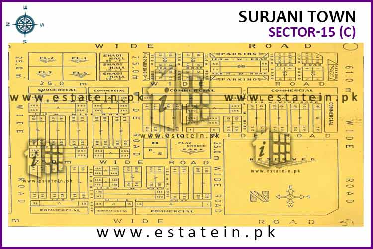Site Plan of Sector-15 (C) of Surjani Town