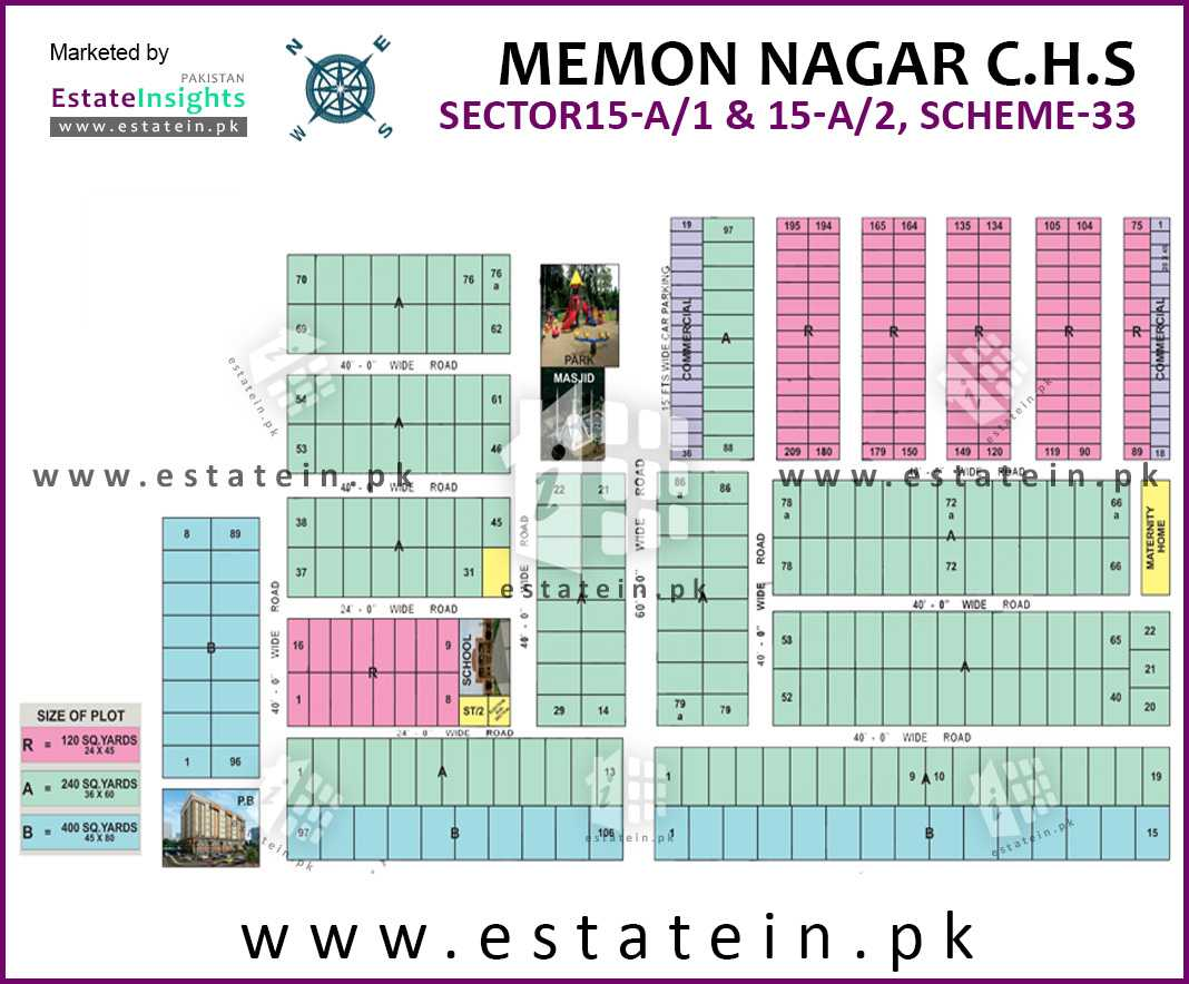 Site Plan of Memon Nagar 15/A of Memon Nagar Society