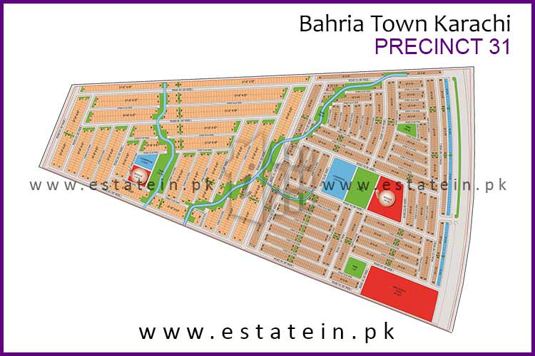Site Plan of Precinct-31 of Bahria Town Karachi