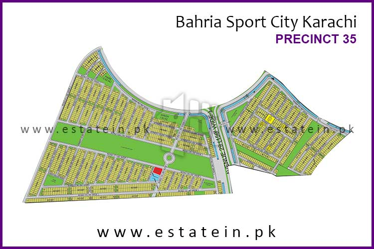 Site Plan of Precinct-35 of Bahria Sports City