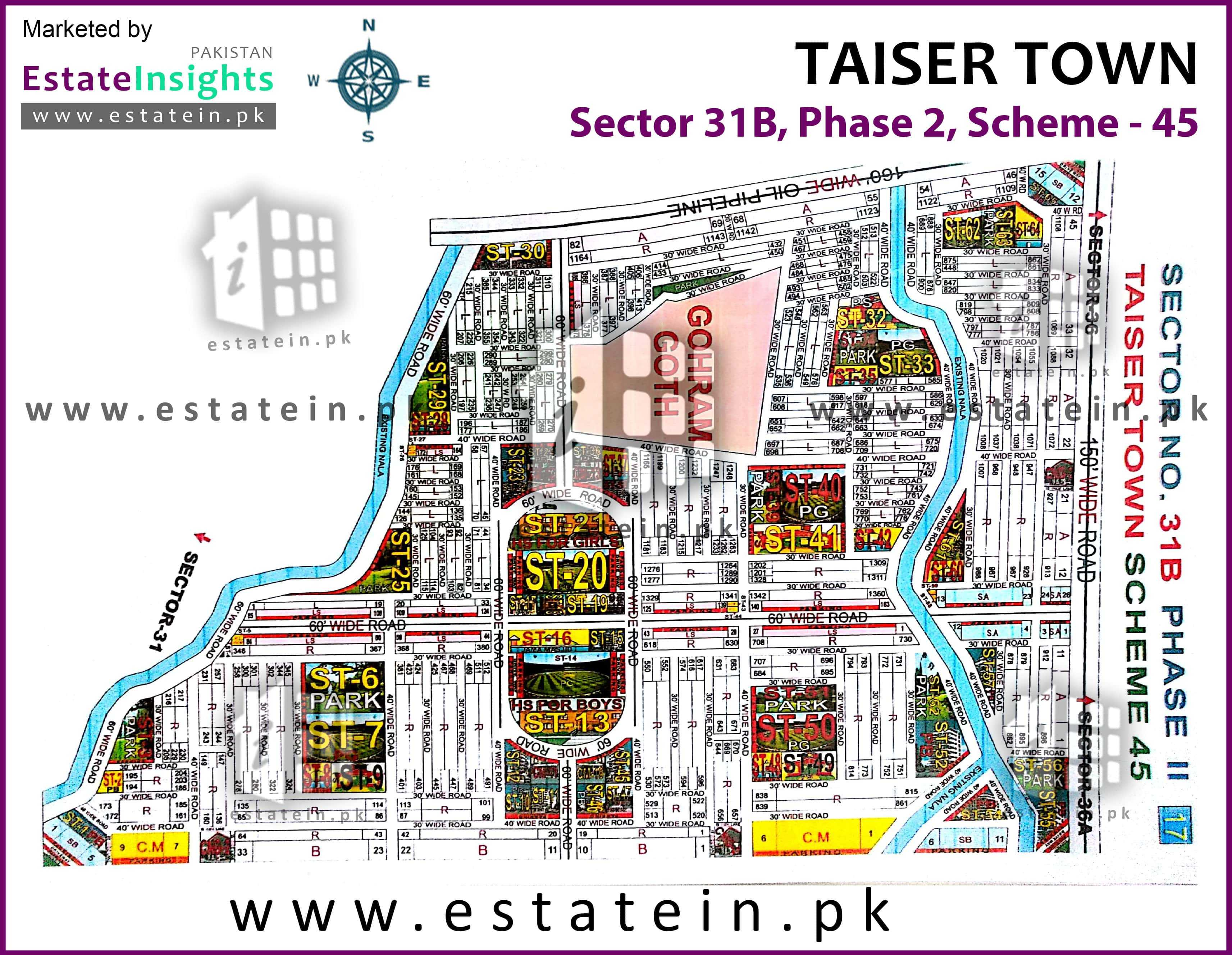 Site Plan of Sector 31B of Taiser Town Phase II