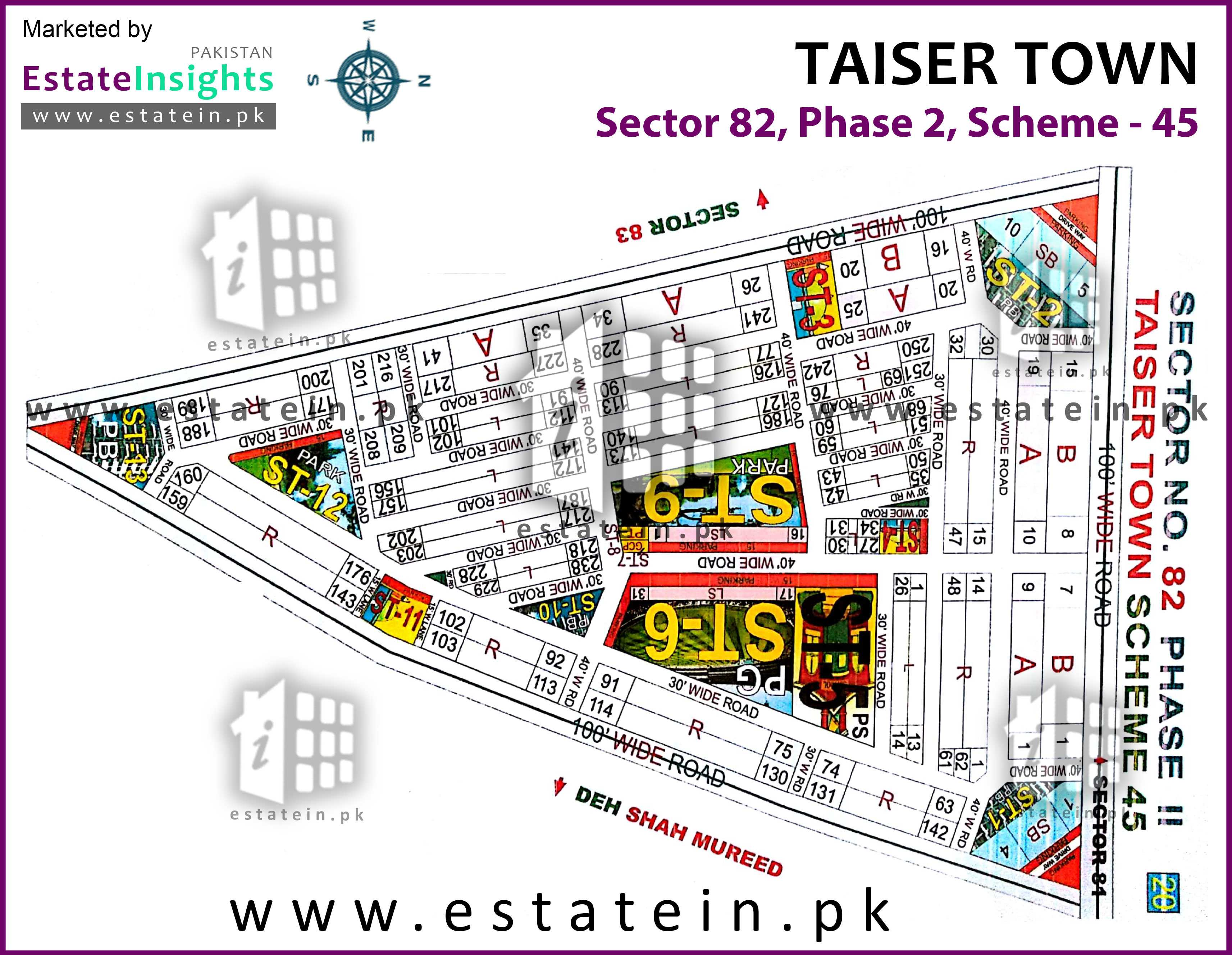 Site Plan of Sector 82 of Taiser Town Phase II