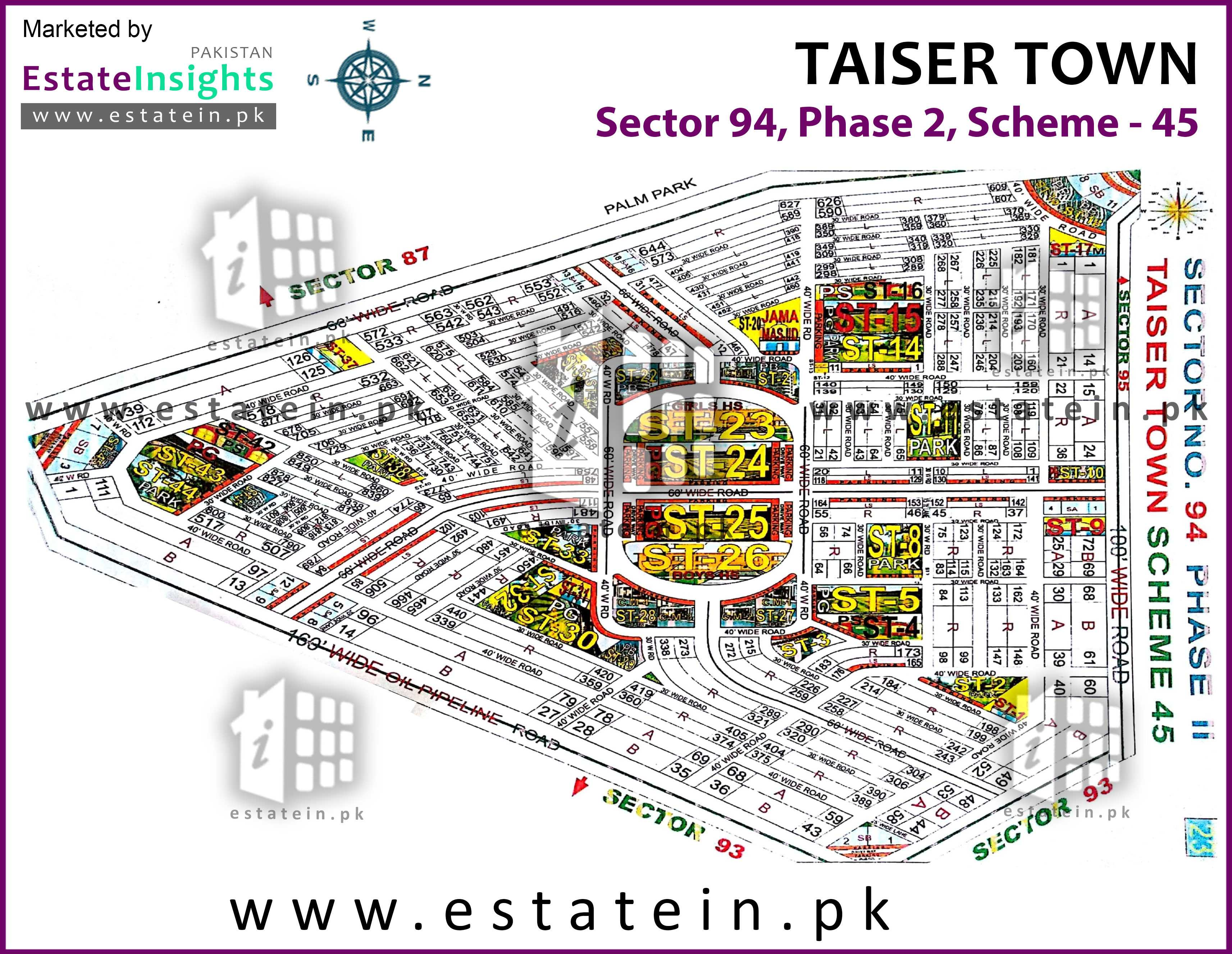 Site Plan of Sector 94 of Taiser Town Phase II