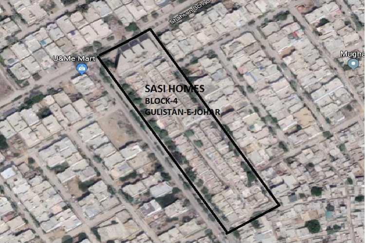 Site Plan of Block 1 of Sasi Homes