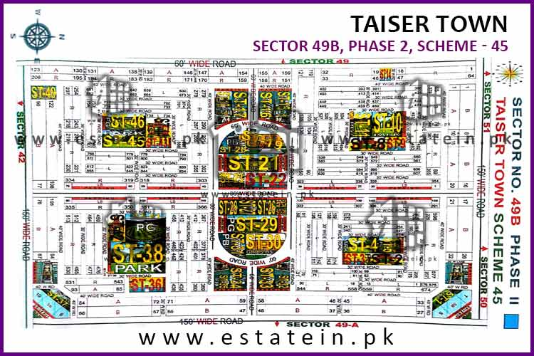 Site Plan of Sector 49B of Taiser Town Phase II