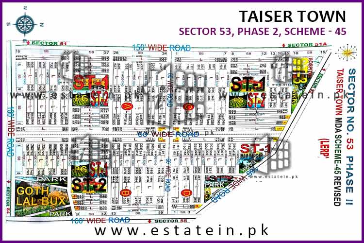 Site Plan of Sector 53 of Taiser Town Phase II