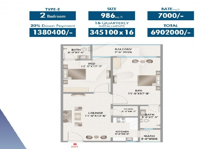 Site Plan of Dominion Twin Towers of Bahria Apartment