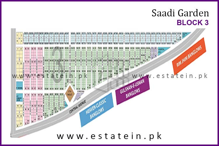 Site Plan of Block 3 of Saadi Garden