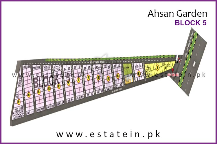 Site Plan of Block 5 of Ahsan Garden and Ahsan Grand City