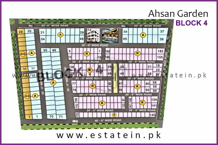Site Plan of Block 4 of Ahsan Garden and Ahsan Grand City