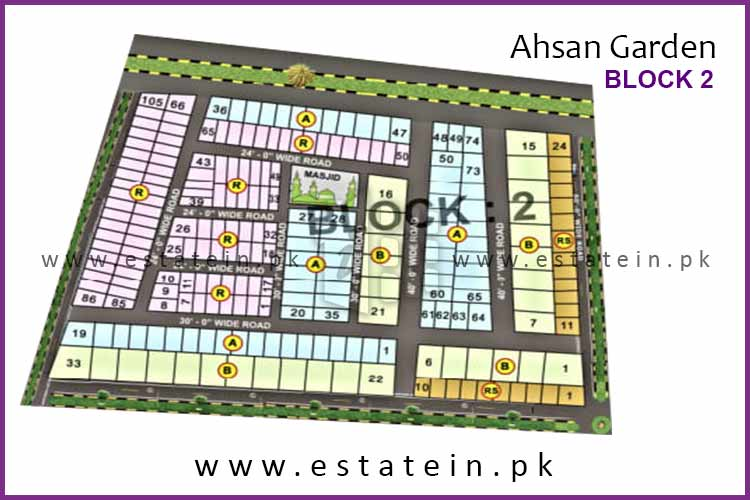 Site Plan of Block 2 of Ahsan Garden and Ahsan Grand City