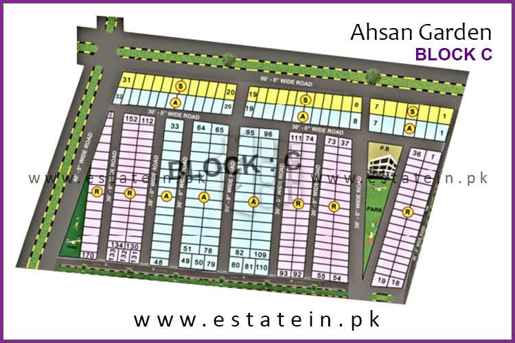 Site Plan of Block C of Ahsan Garden and Ahsan Grand City