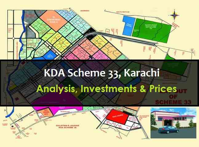 Analysis, Investment and Prices in KDA Scheme 33 Karachi