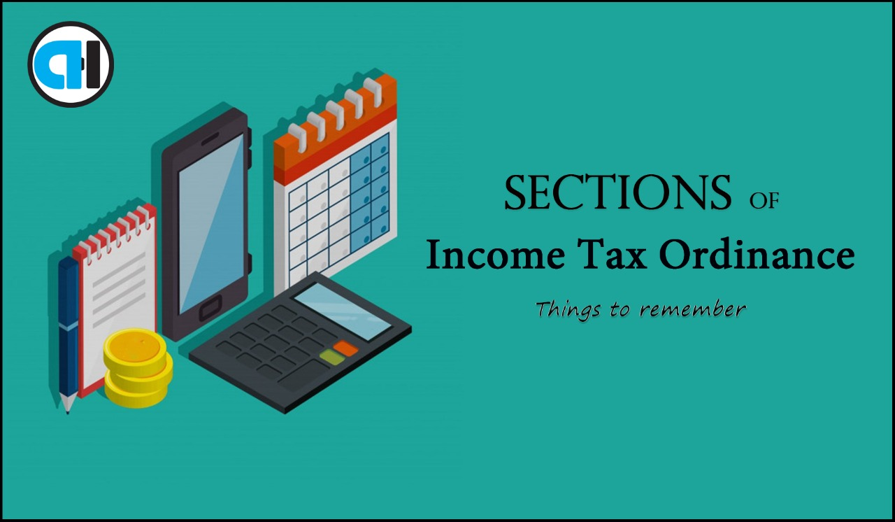 Sections of Income Tax Ordinance in Pakistan