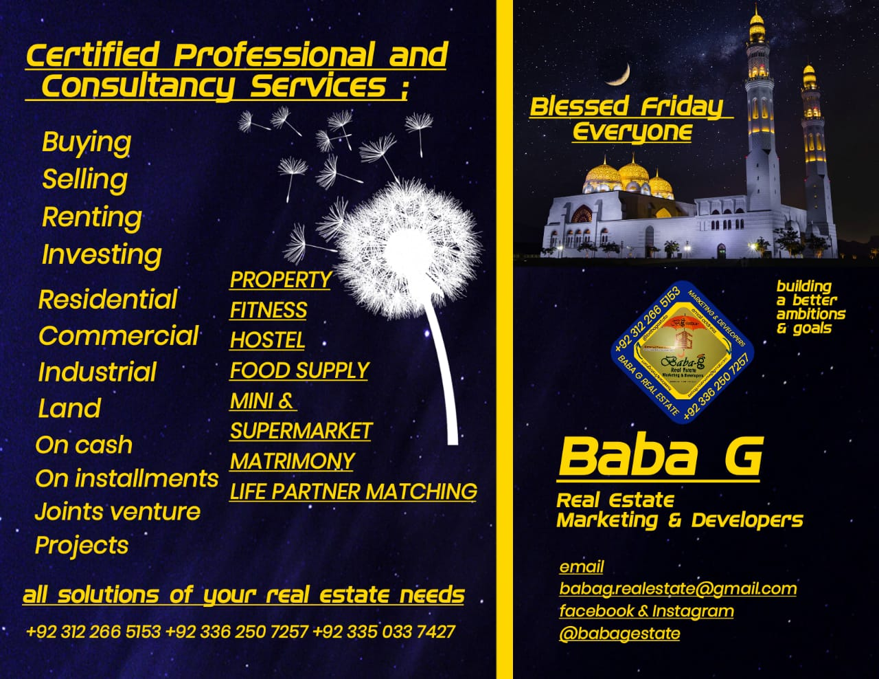 Solutions of your real estate needs and consultancy services!