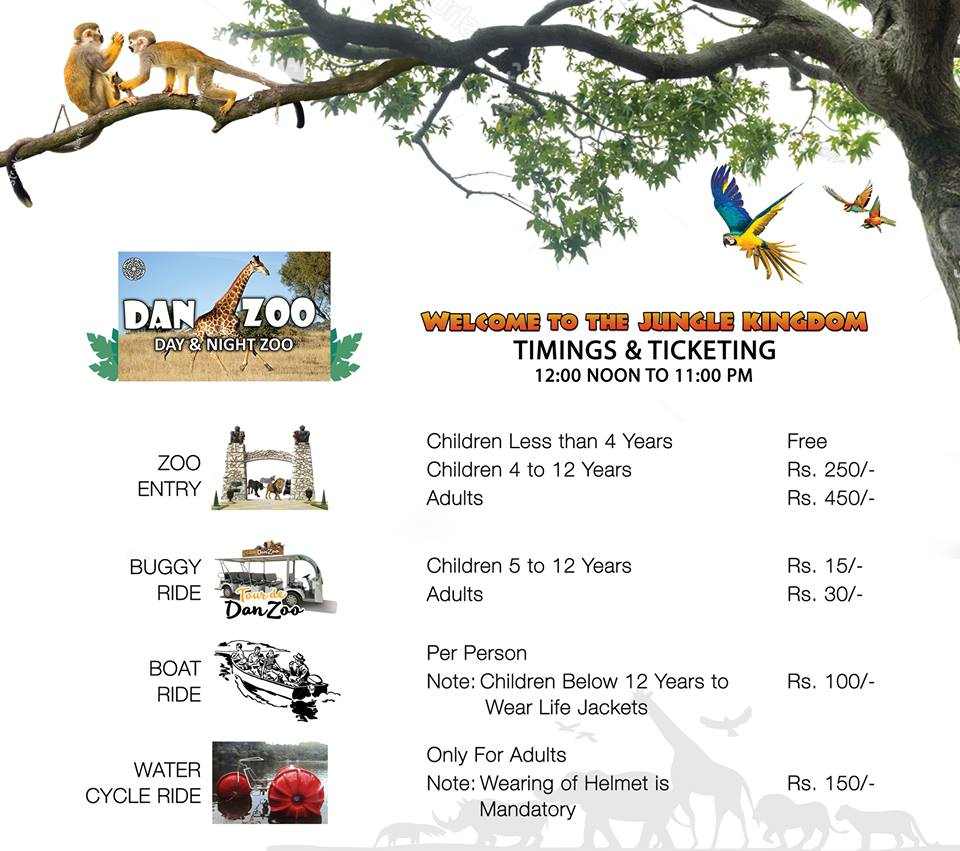 Timing & Ticket Charges of Danzoo