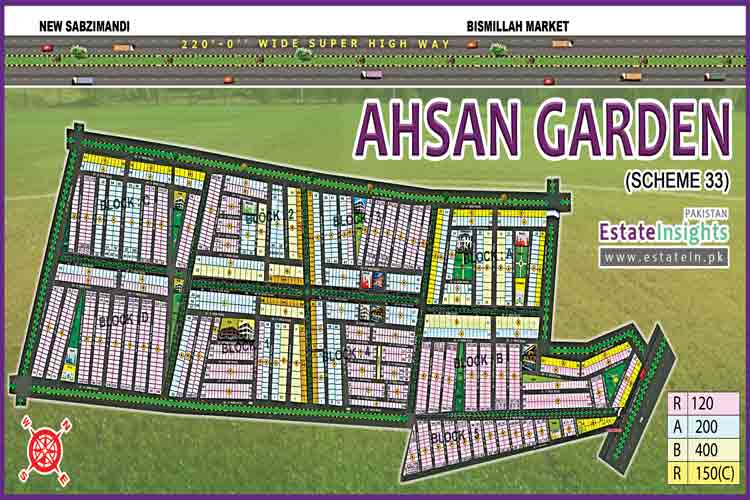 Site Plan of Ahsan Garden and Ahsan Grand City
