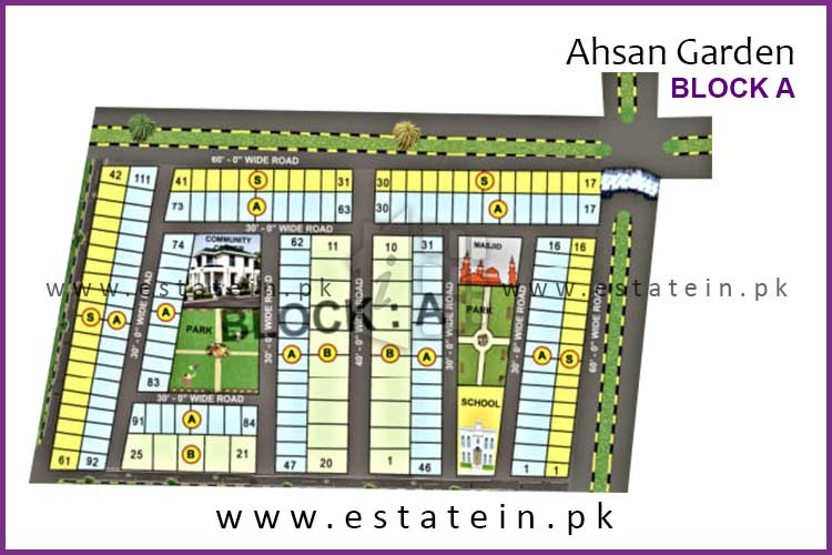 120 Sqy Plot for sale in Block 1 Ahsan Grand City Scheme 33