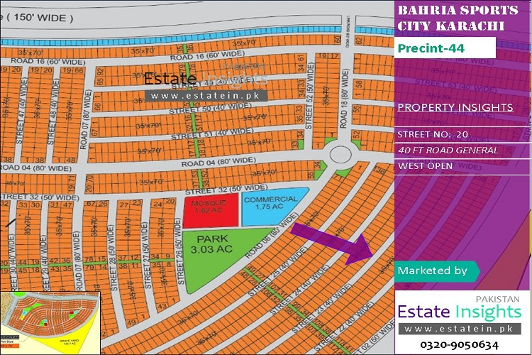 250 Sqy Plot for sale in Precinct-44