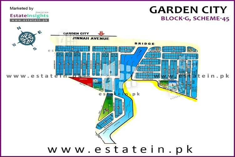 120 sq. yards plot for sale in Garden city (block G)