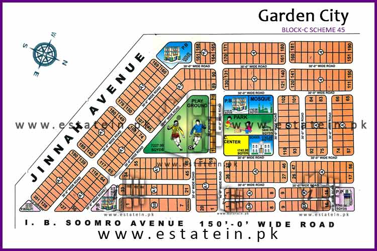 200 yards Plot for Sale in Block C in Garden City Gulshan-e-Maymar