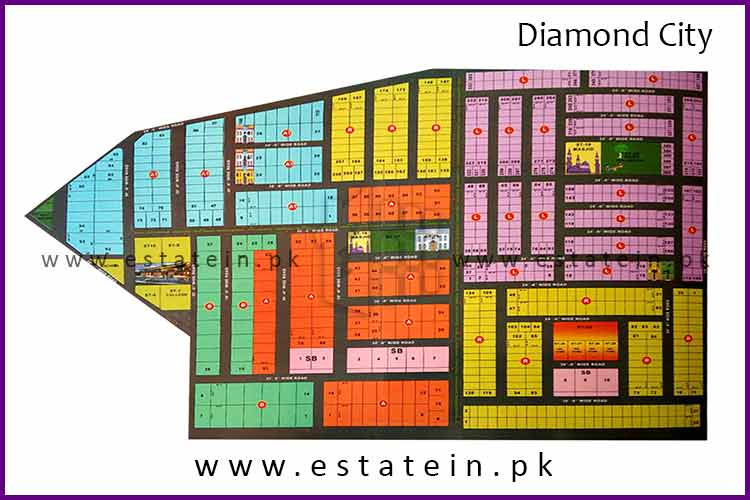 80 Sqy Plot for Sale in Diamond City Karachi.