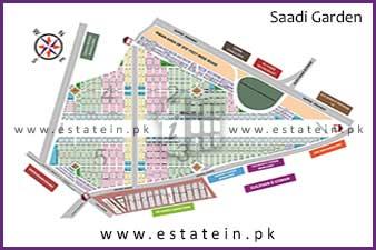 88 Sqy Commercial Plot in Saadi Garden Block 7