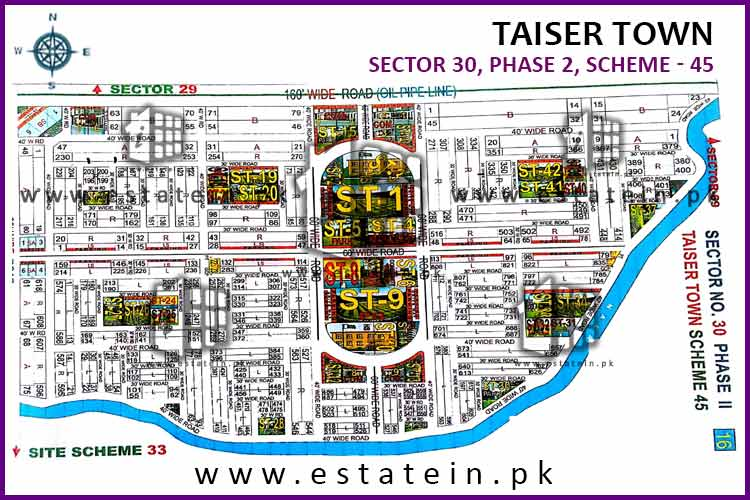 120 Sqy Plot for Sale in Sector 30 Phase 2 Taiser Town Karachi