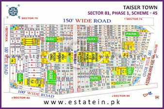 Full paid 80 Sqy Plot for Sale in Sector 81/4 Phase 1 Taiser Town Karachi