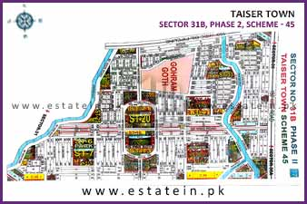 Full paid 120 Sqy Plot for Sale in Sector 31/B Phase 2 Taiser Town Karachi