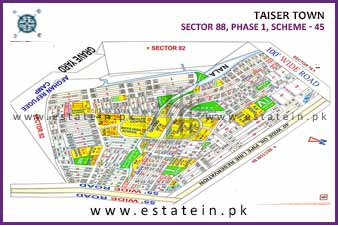 Full paid 240 Sqy Plot for Sale in Sector 88/1 Phase 1 Taiser Town Karachi