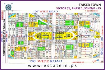 Full paid 80 Sqy Plot for Sale in Sector 76/3 Phase 1 Taiser Town Karachi